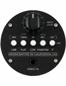 manley FRONT PANEL CONTROLS and DIRECT INPUT
